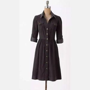 Anthropologie Fei Refined Cord Shirt Dress